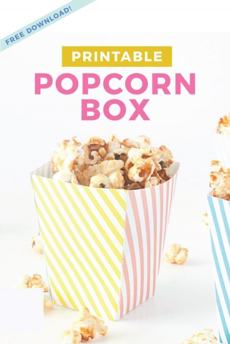 picture relating to Popcorn Box Printable named Totally free Printable Popcorn Box Template - Style and design Take in Repeat