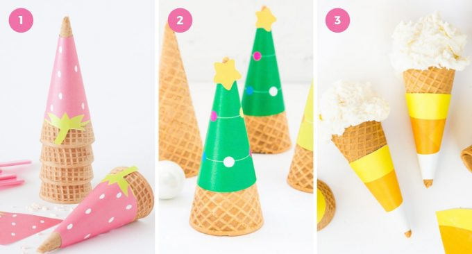 printable ice cream cone wrapper designs