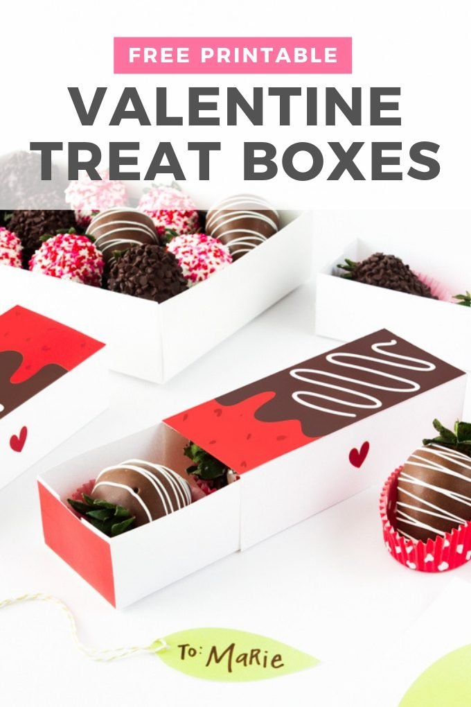 Free Strawberry Valentines Gift Box Design Eat Repeat
