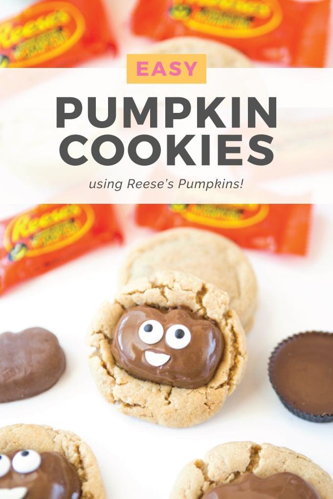 Reeses Pumpkin Peanut Butter Cookies