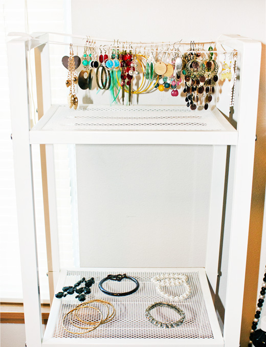 DIY Earring Holder Using A Shoelace
