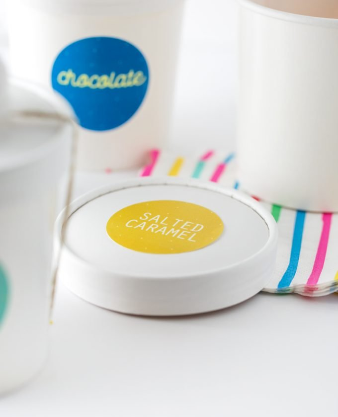 Salted Caramel Sticker Printable Ice Cream Lables