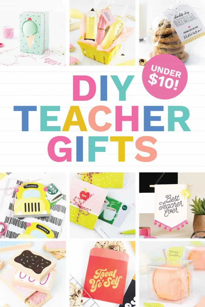 These teacher gift ideas (all under $10!) can be put together in less than an hour and make for perfect homemade gifts! Because easy + cheap u003d the best ...  sc 1 st  Design Eat Repeat & Back to School Gifts For Teachers (Easy u0026 Cute!) - Design Eat Repeat
