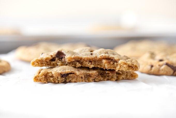Inside Texture of Panera Chocolate Chip Cookies