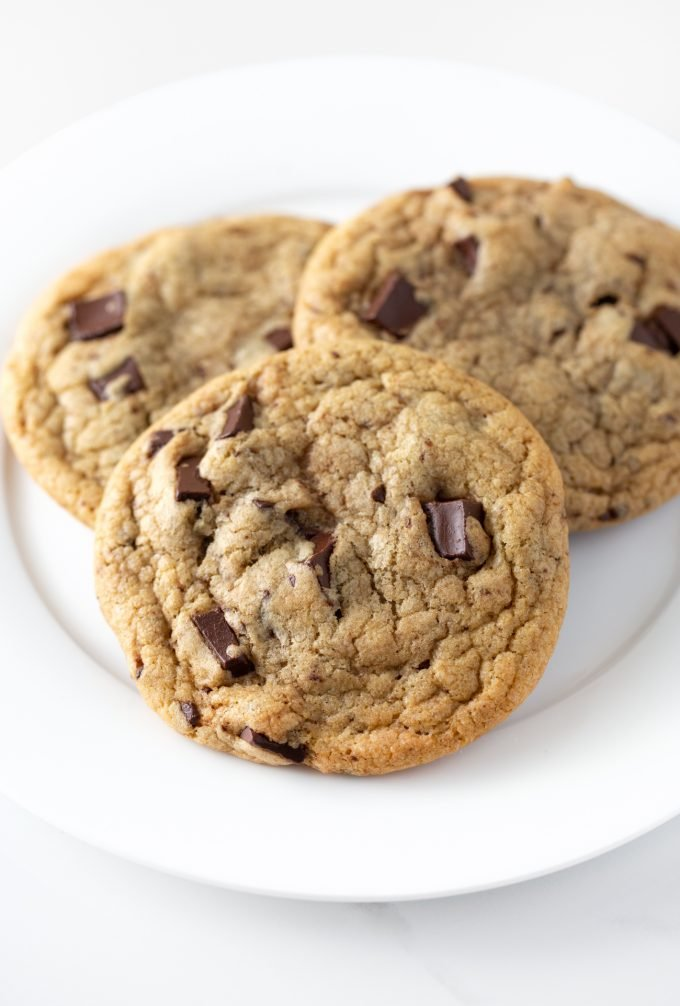 Copycat Panera Chocolate Chip Cookies on Plate