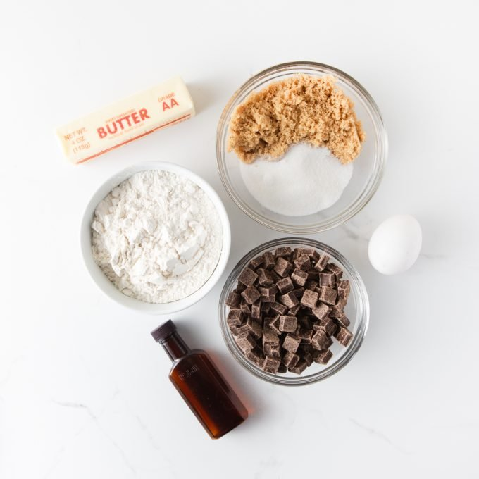 Ingredients for Copycat Panera Chocolate Chip Cookies