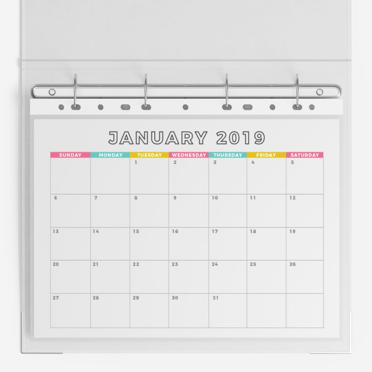 Free 2019 Monthly Calendar Printable