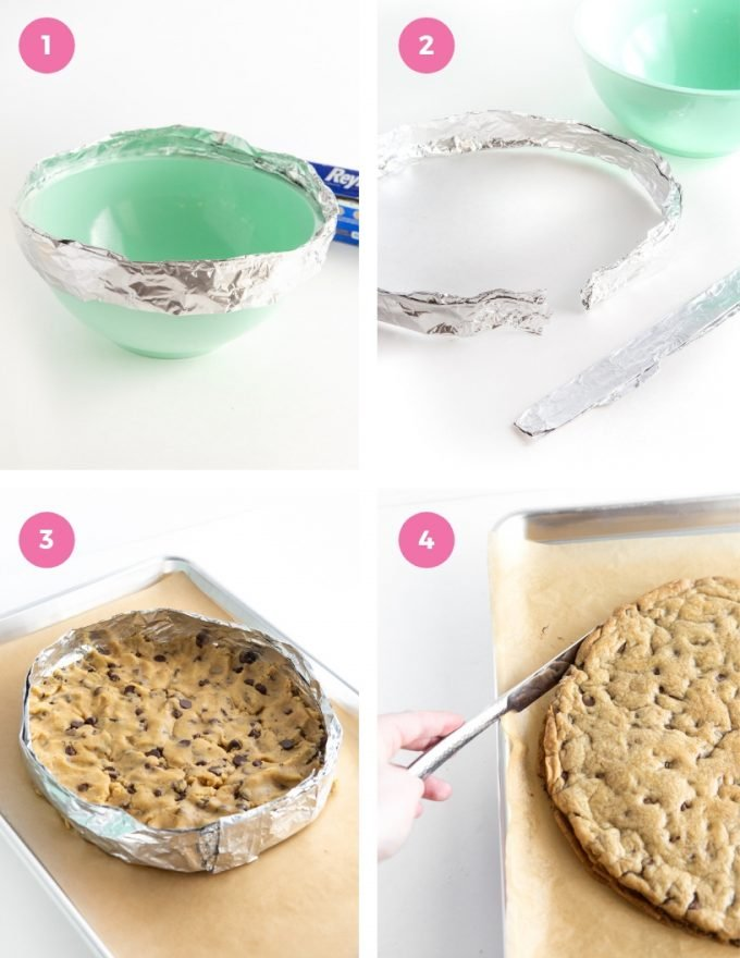 How to make cookie cake pan with foil