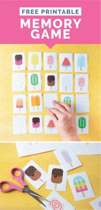 image about Printable Memory Games named Popsicle Printable Memory Activity - Layout Take in Repeat
