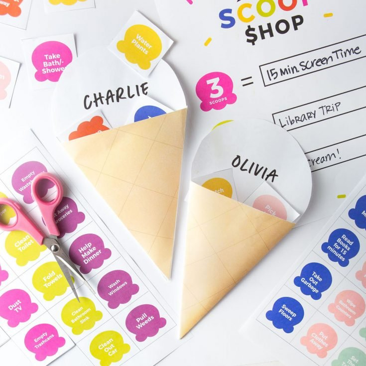 How To Make A Ice Cream Printable Chore Chart