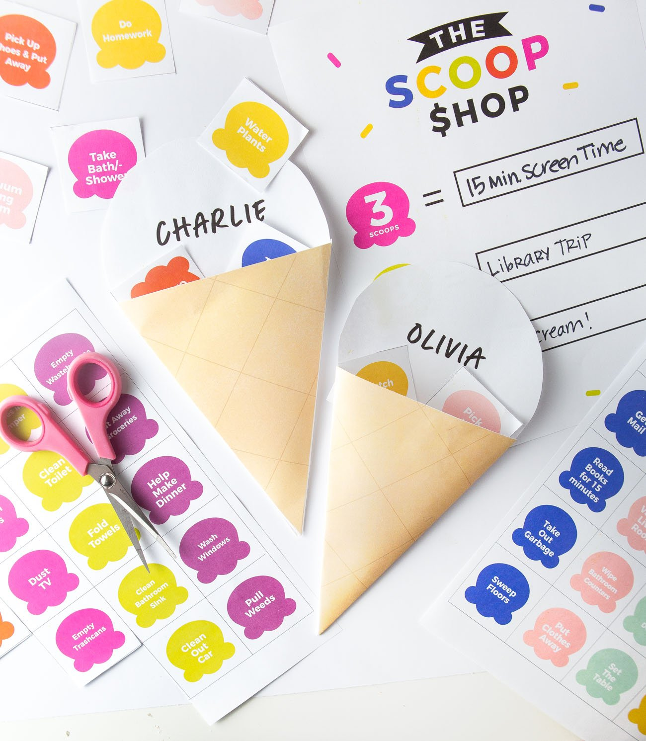 Icecream Printable Chore Chart