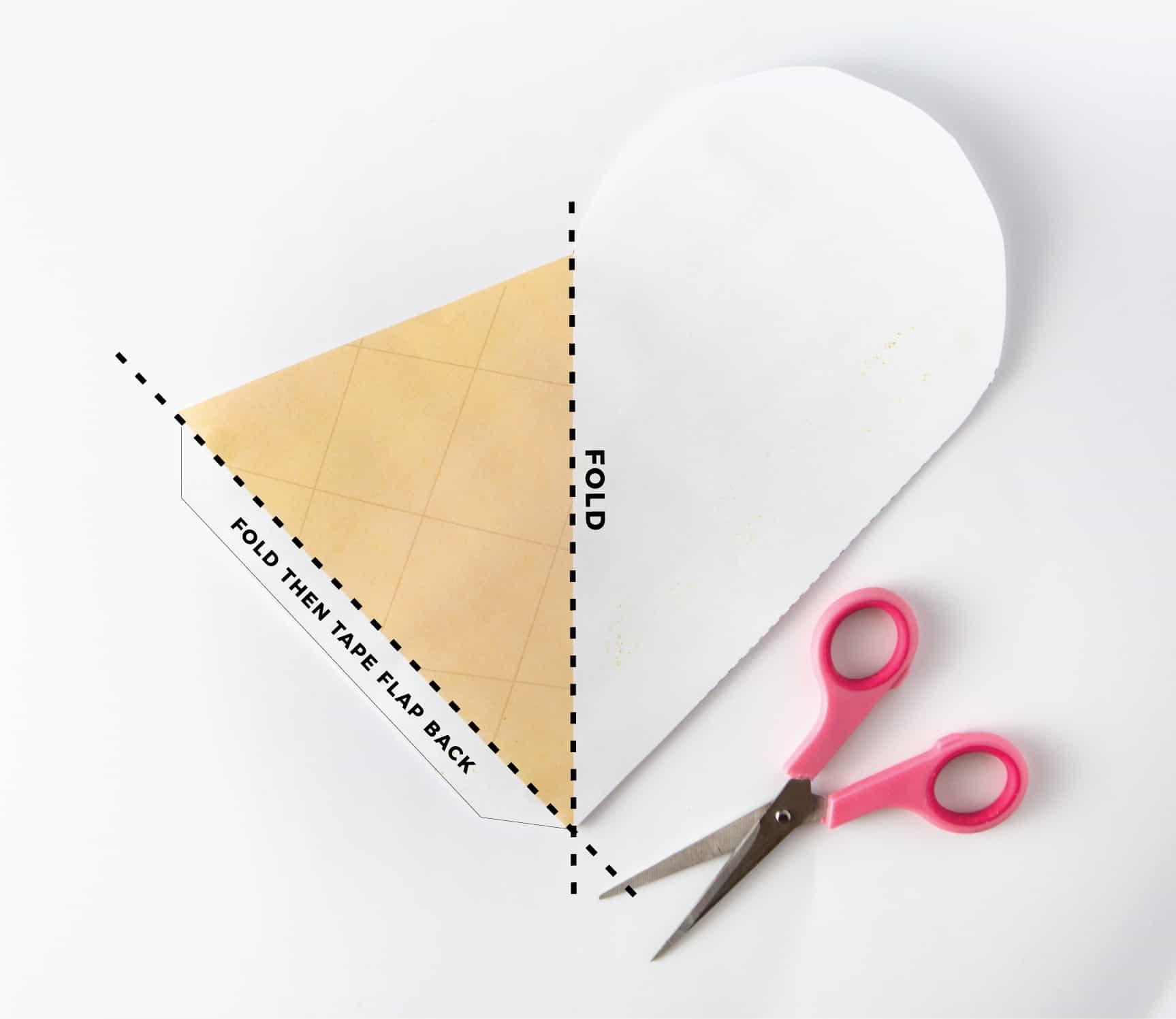 How to fold Ice Cream Printable Chore Chart