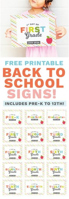 graphic regarding Free Printable Back to School Signs known as Printable Again towards College Signs or symptoms - Structure Take in Repeat