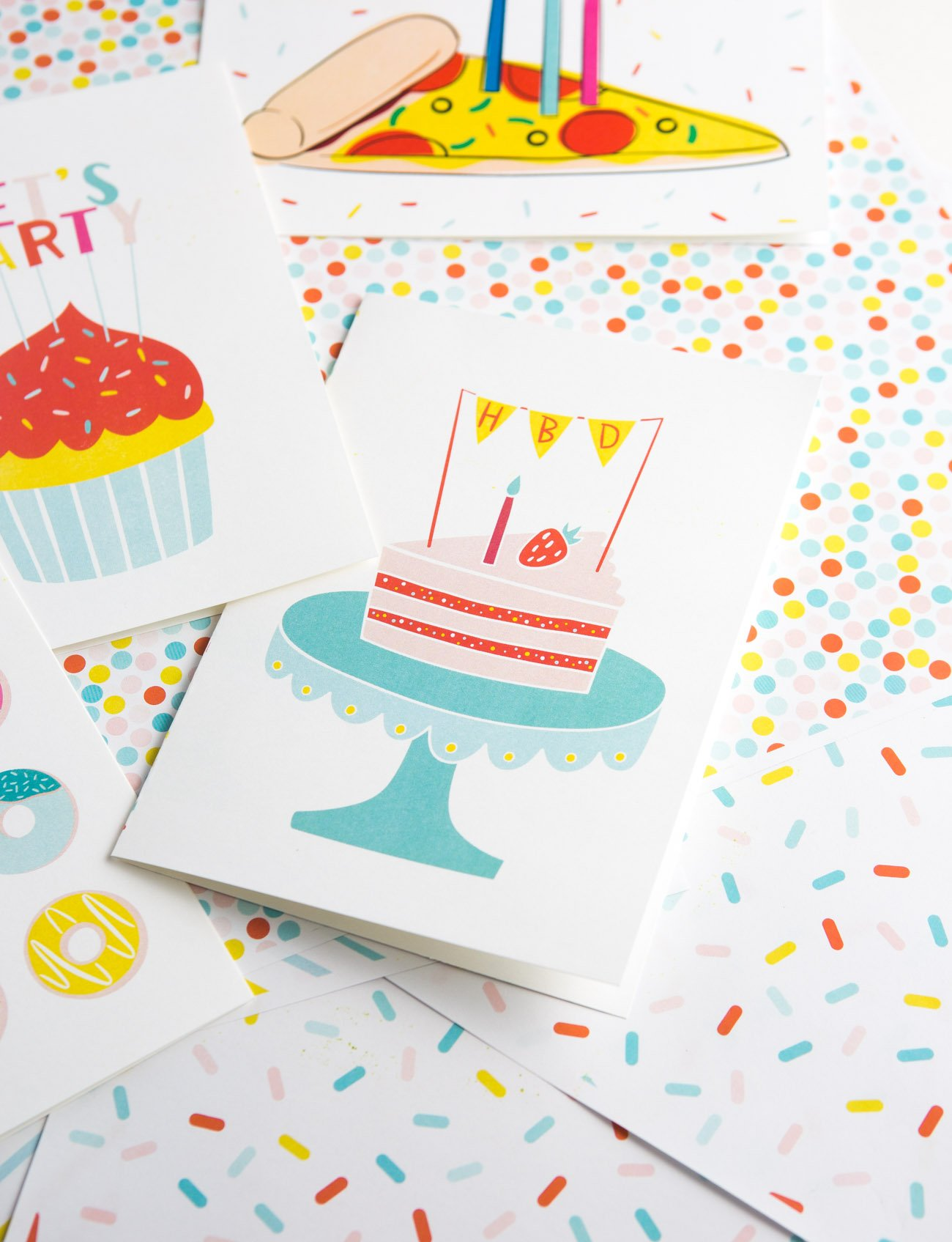 picture regarding Free Printable Birthday Cards for Adults called Totally free Printable Cake Birthday Card - Layout Try to eat Repeat