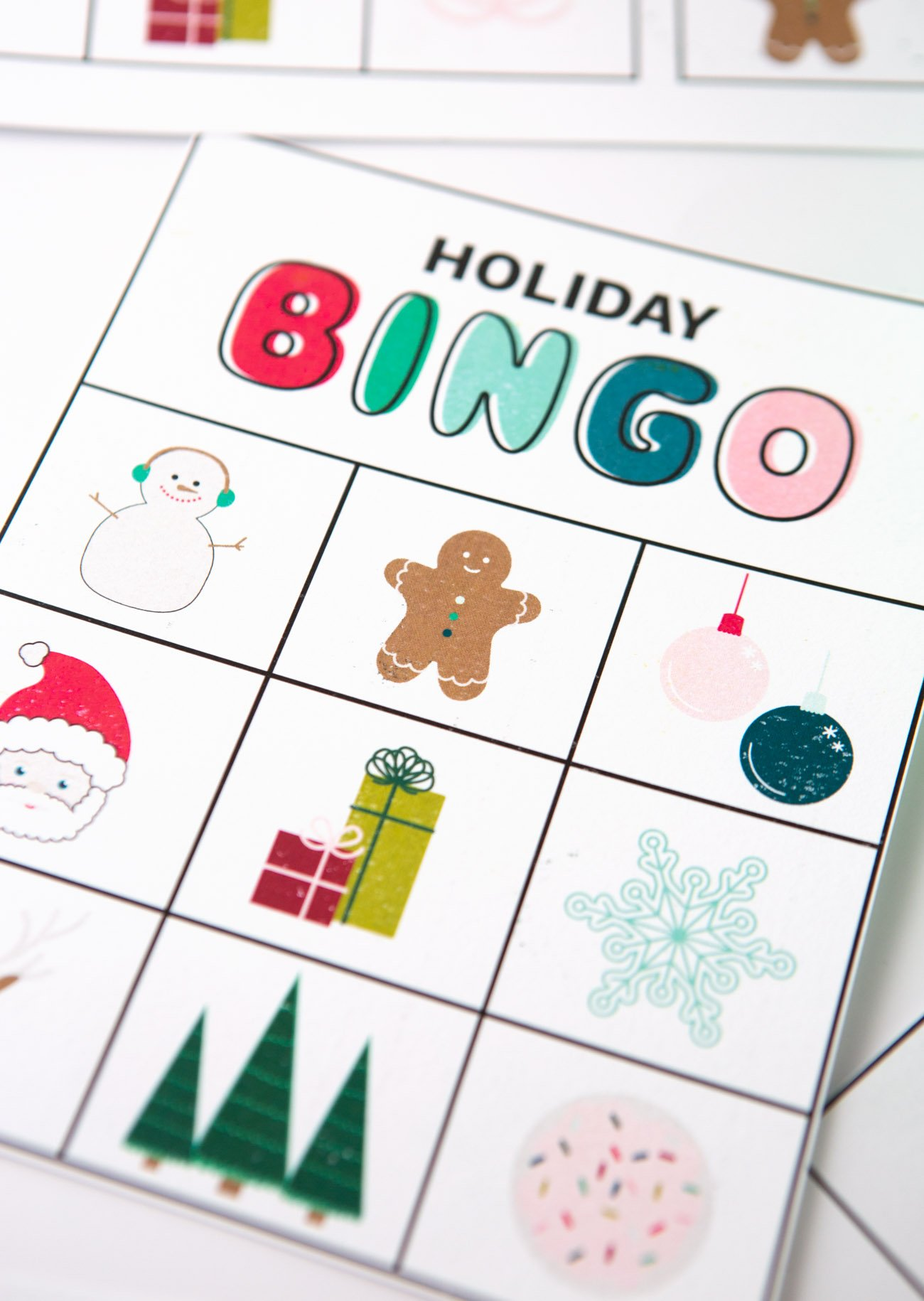 picture regarding Free Printable Christmas Bingo Cards referred to as Free of charge Printable Xmas Bingo Playing cards - Design and style Consume Repeat