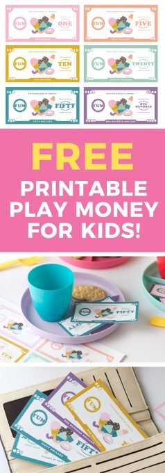 photo relating to Printable Play Money for Kids called Free of charge Printable Perform Funds for Youngsters - Style Take in Repeat