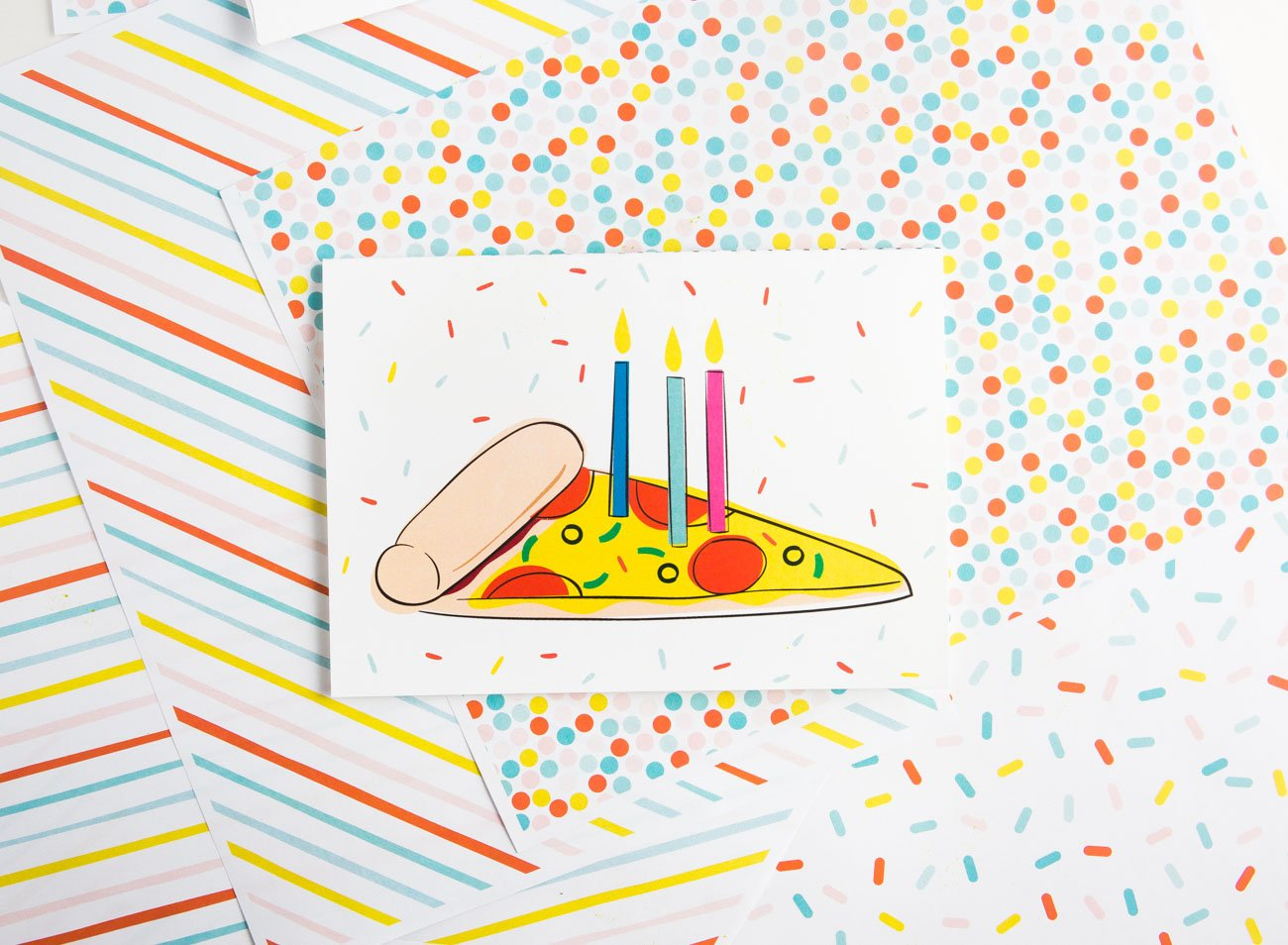 picture about Pizza Printable named Pizza Printable Birthday Card - Style and design Take in Repeat