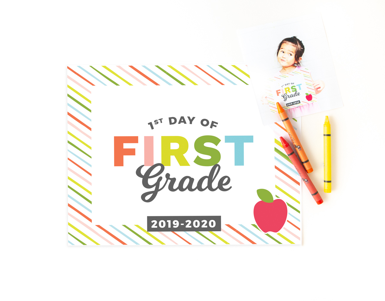 photo relating to First Day of Pre K Sign Printable named Printable Back again toward University Indications - Style Consume Repeat