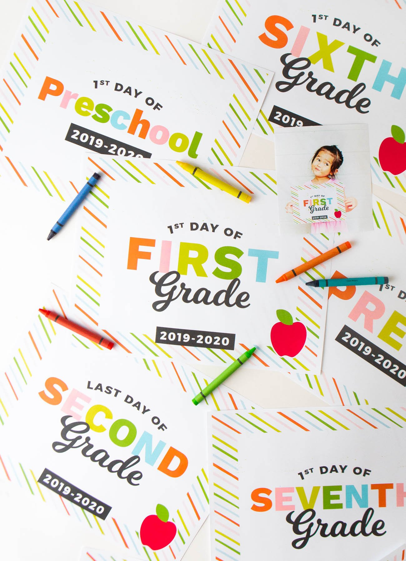 photograph about First Day of 1st Grade Printable named Printable Again in the direction of Faculty Indicators - Style and design Try to eat Repeat