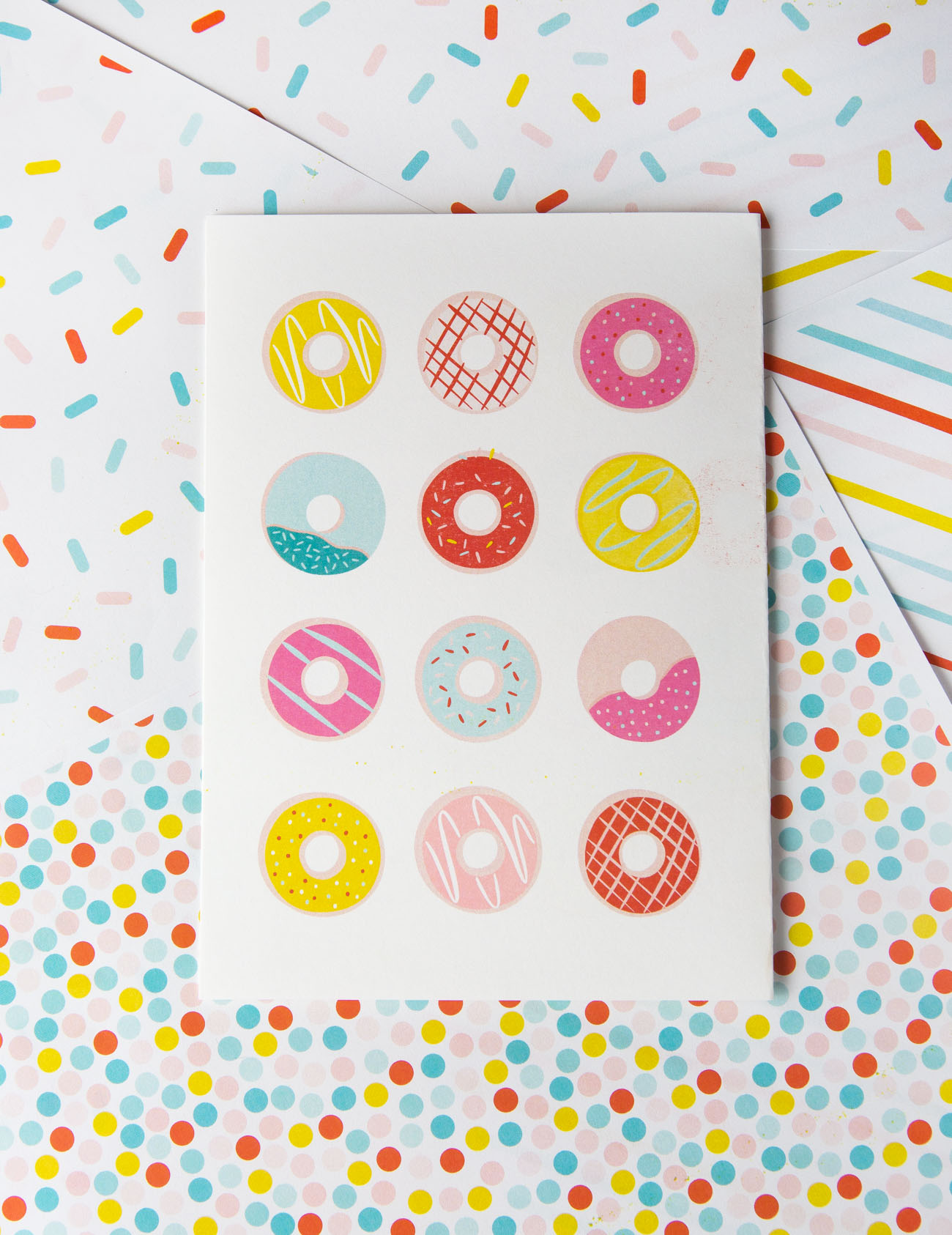 photograph about Donut Printable named Donut Printable Birthday Card - Structure Try to eat Repeat
