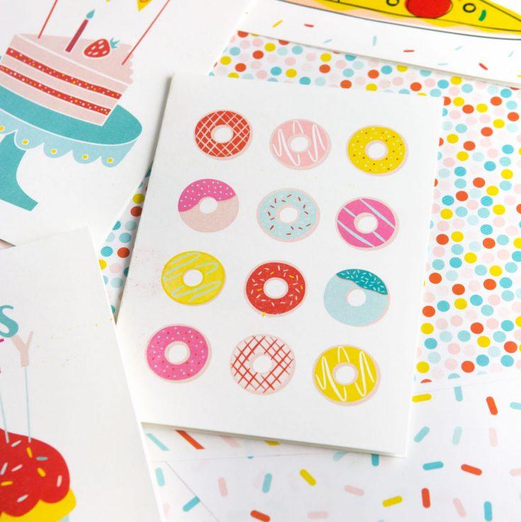 Donut Printable Birthday Card