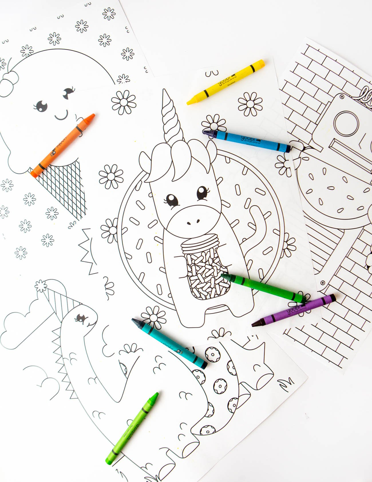 4 Free Printable Coloring Pages for Kids