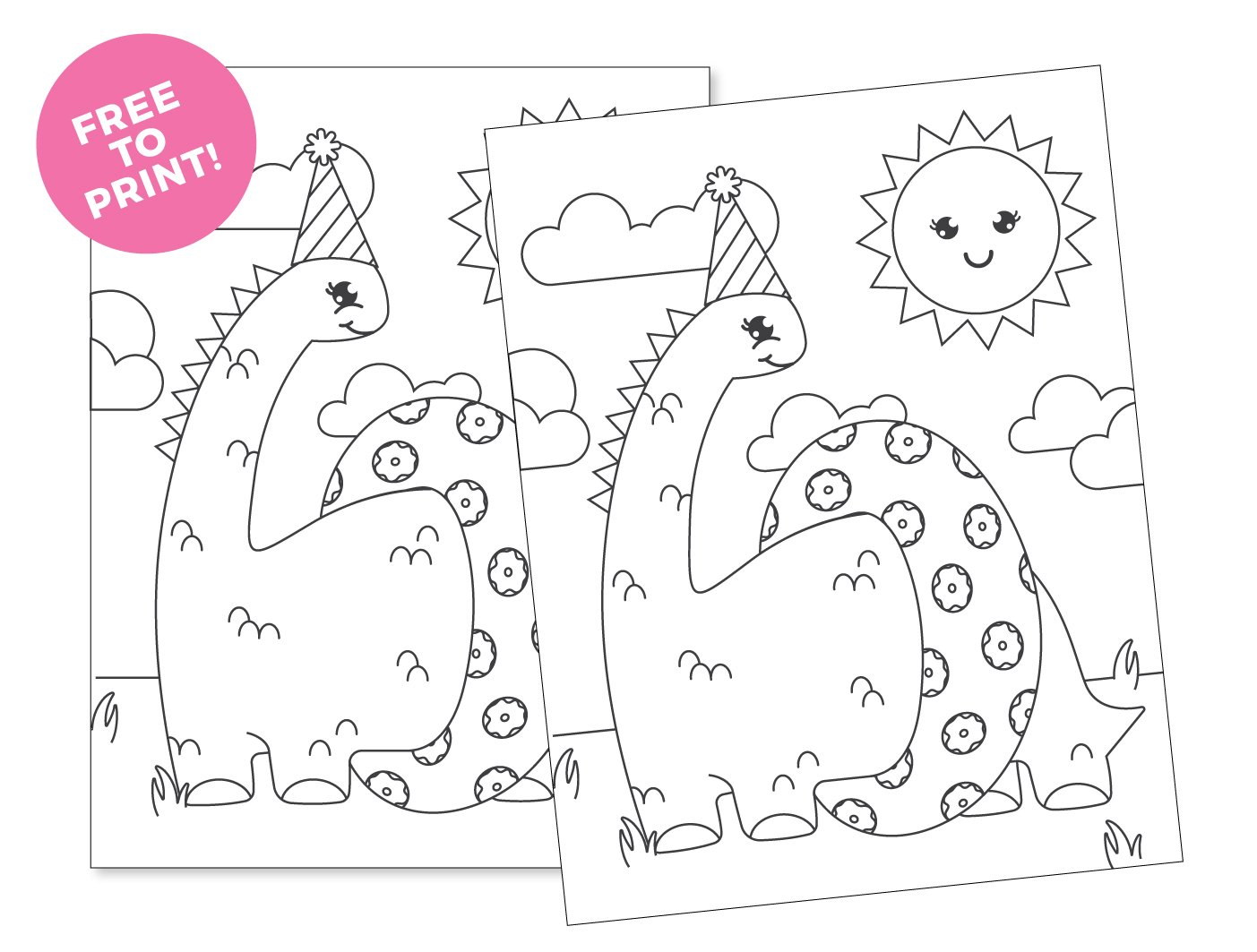 Free to print Printable Dinosaur Coloring Page