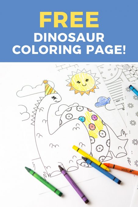 Printable Dinosaur Coloring Page - Design Eat Repeat