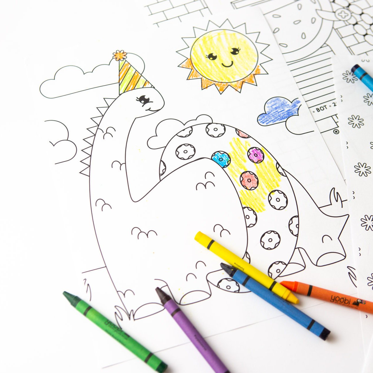 8 Free Kids Coloring Pages Design Eat Repeat