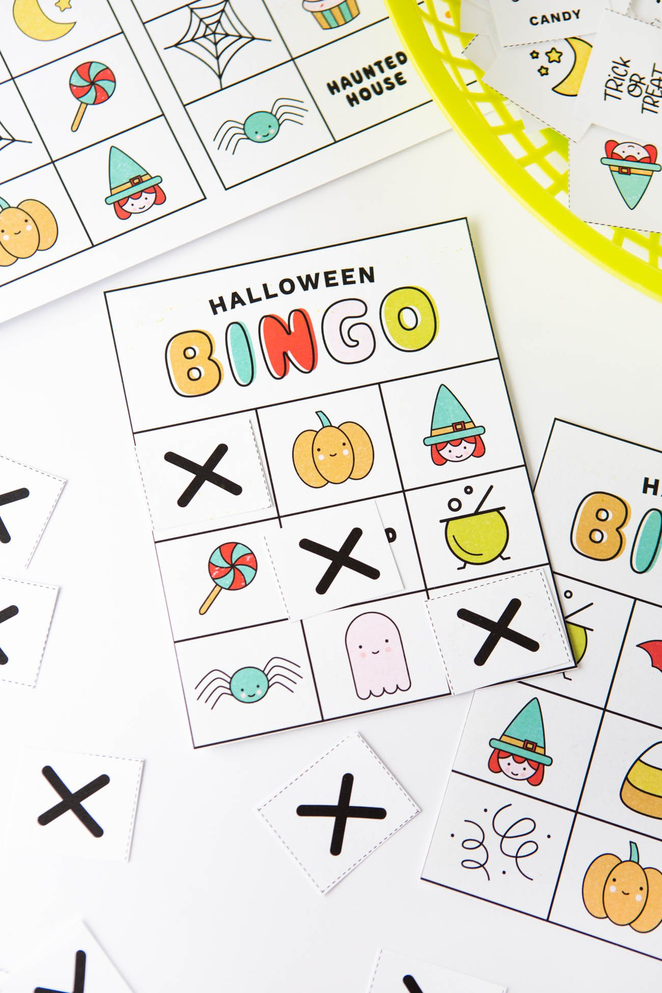 image relating to Printable Bingo Chips referred to as Totally free Printable Halloween Bingo Playing cards - Style Consume Repeat
