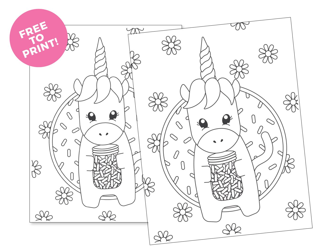 picture regarding Free Printable Unicorn Coloring Pages named Printable Unicorn Coloring Website page - Style and design Consume Repeat