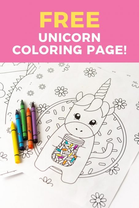 - Printable Unicorn Coloring Page - Design Eat Repeat