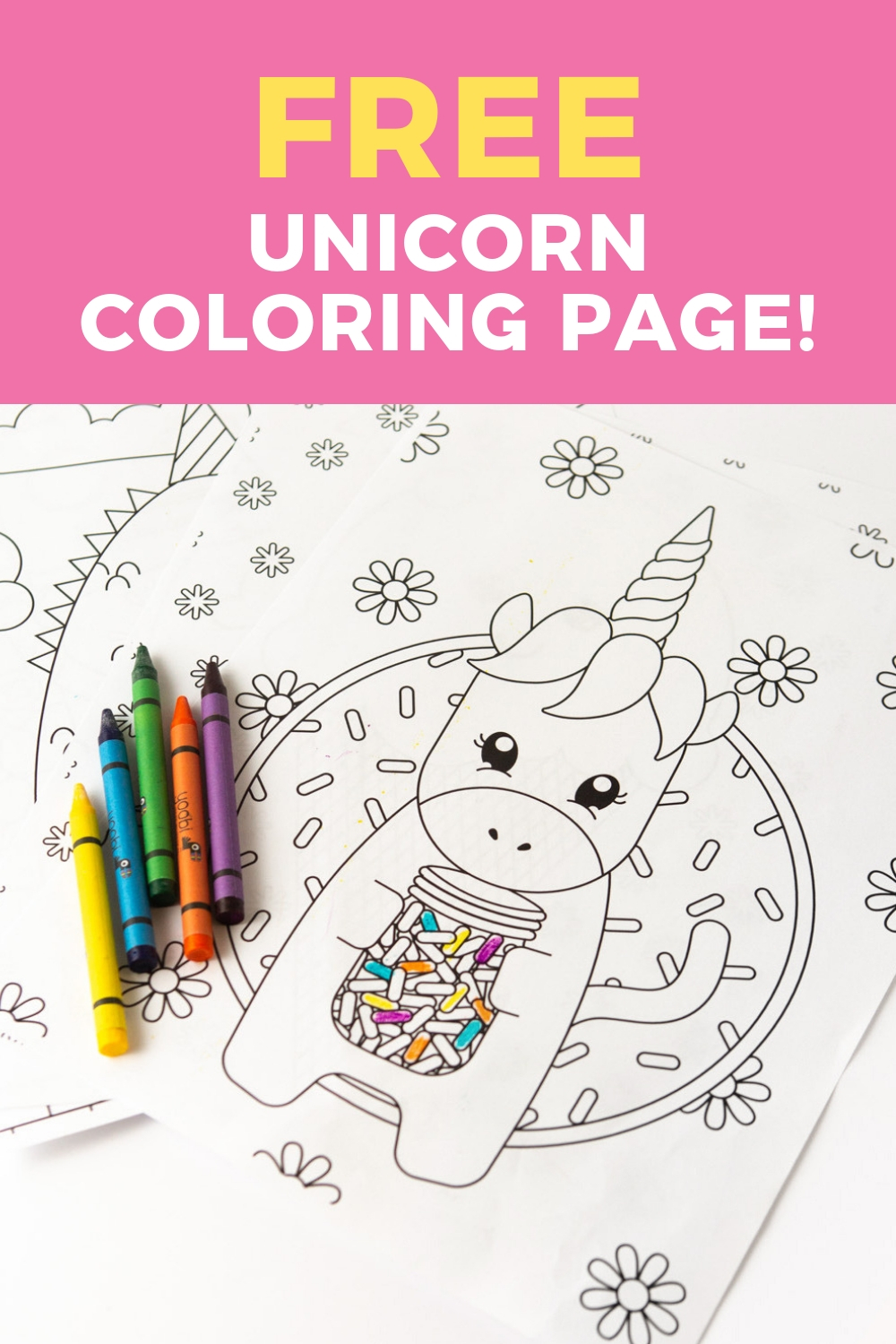 Printable Unicorn Coloring Page - Design Eat Repeat