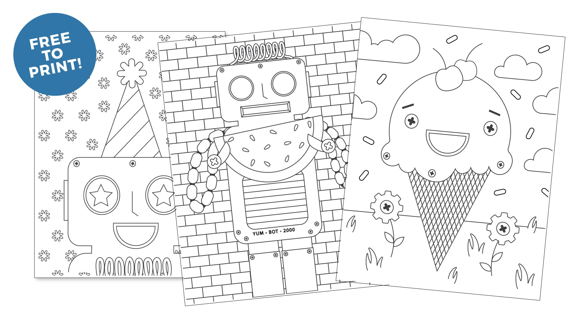Printable Robot Coloring Pages Design Eat Repeat
