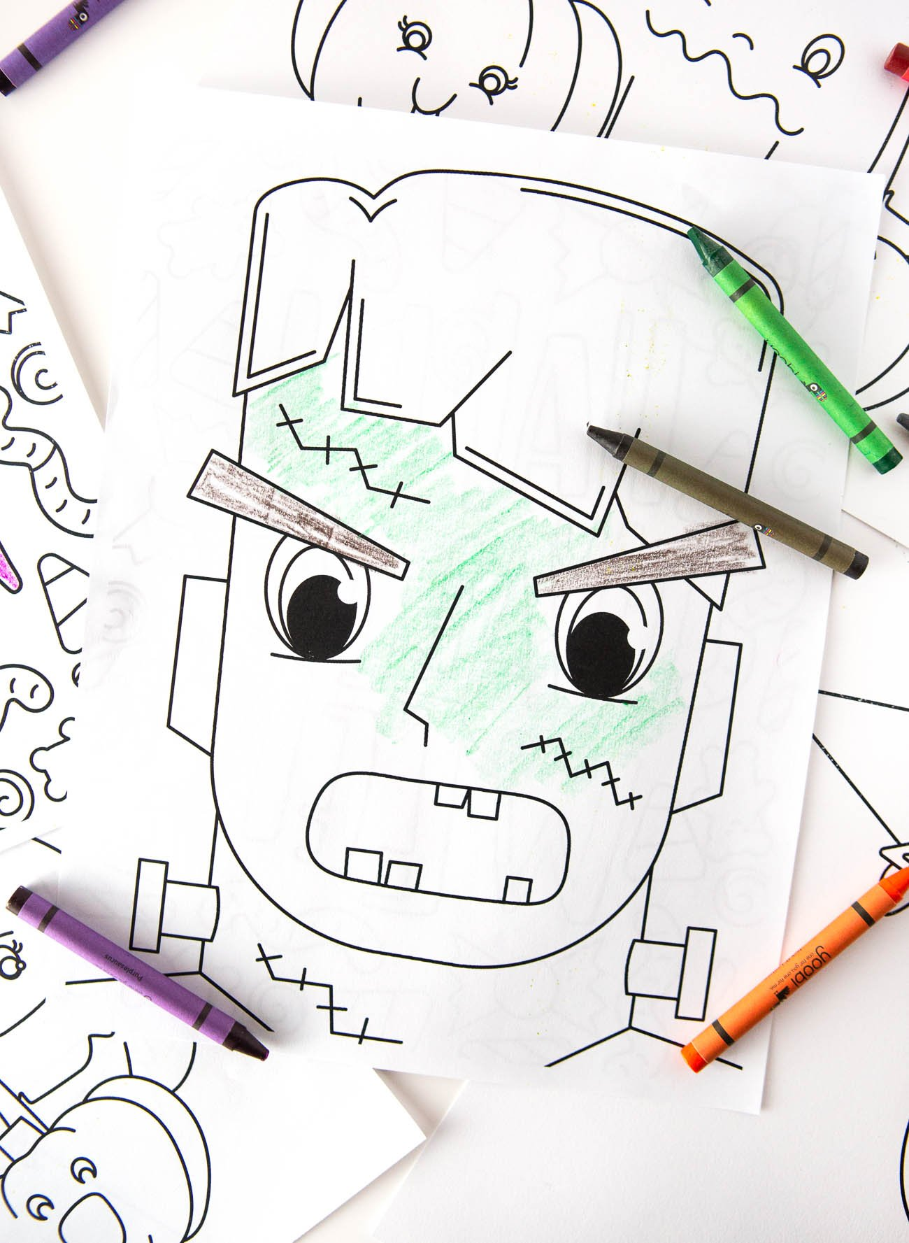 Cute Frankenstein FREE Halloween Coloring Pages