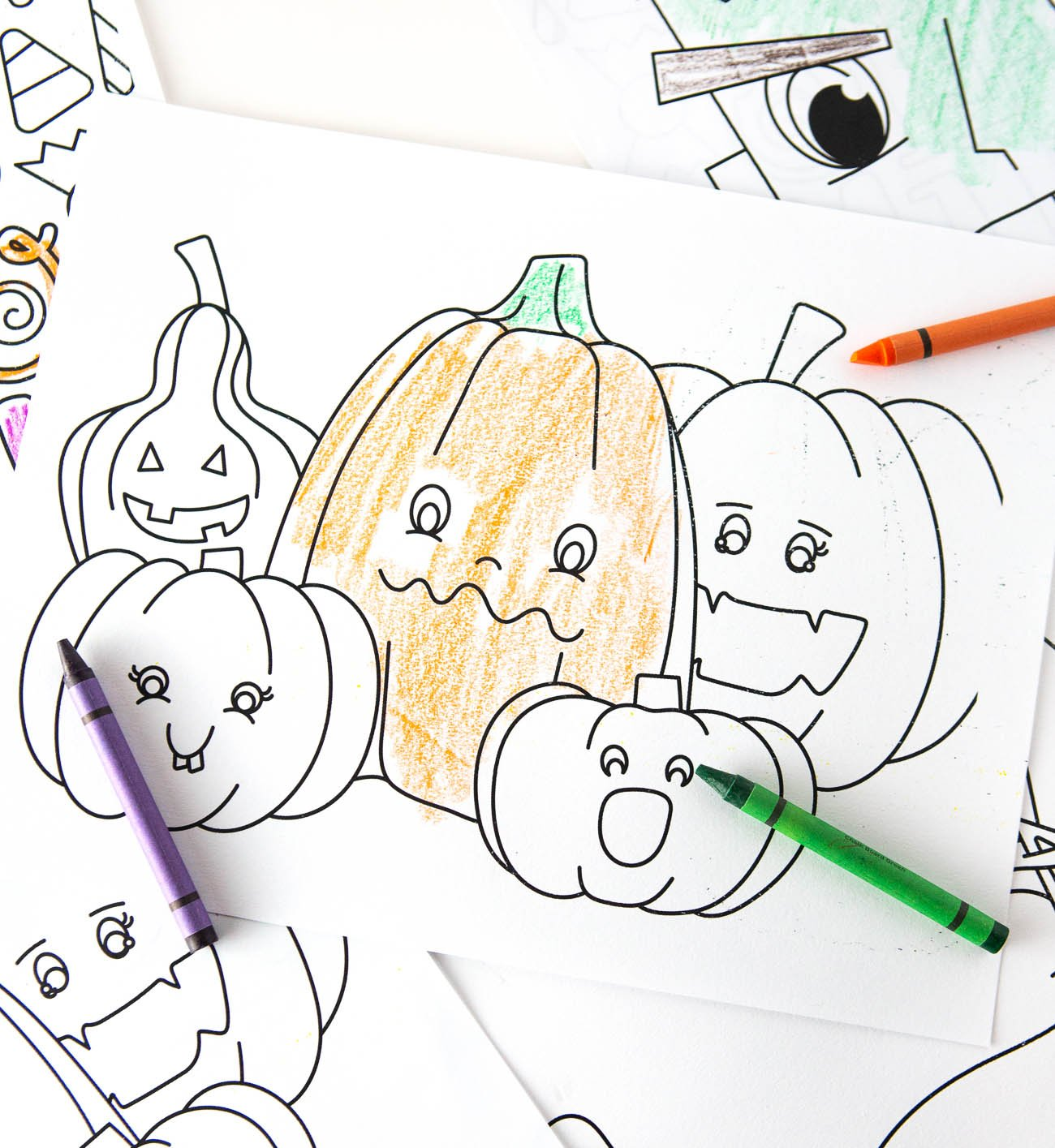 Cute Pumpkins FREE Halloween Coloring Pages