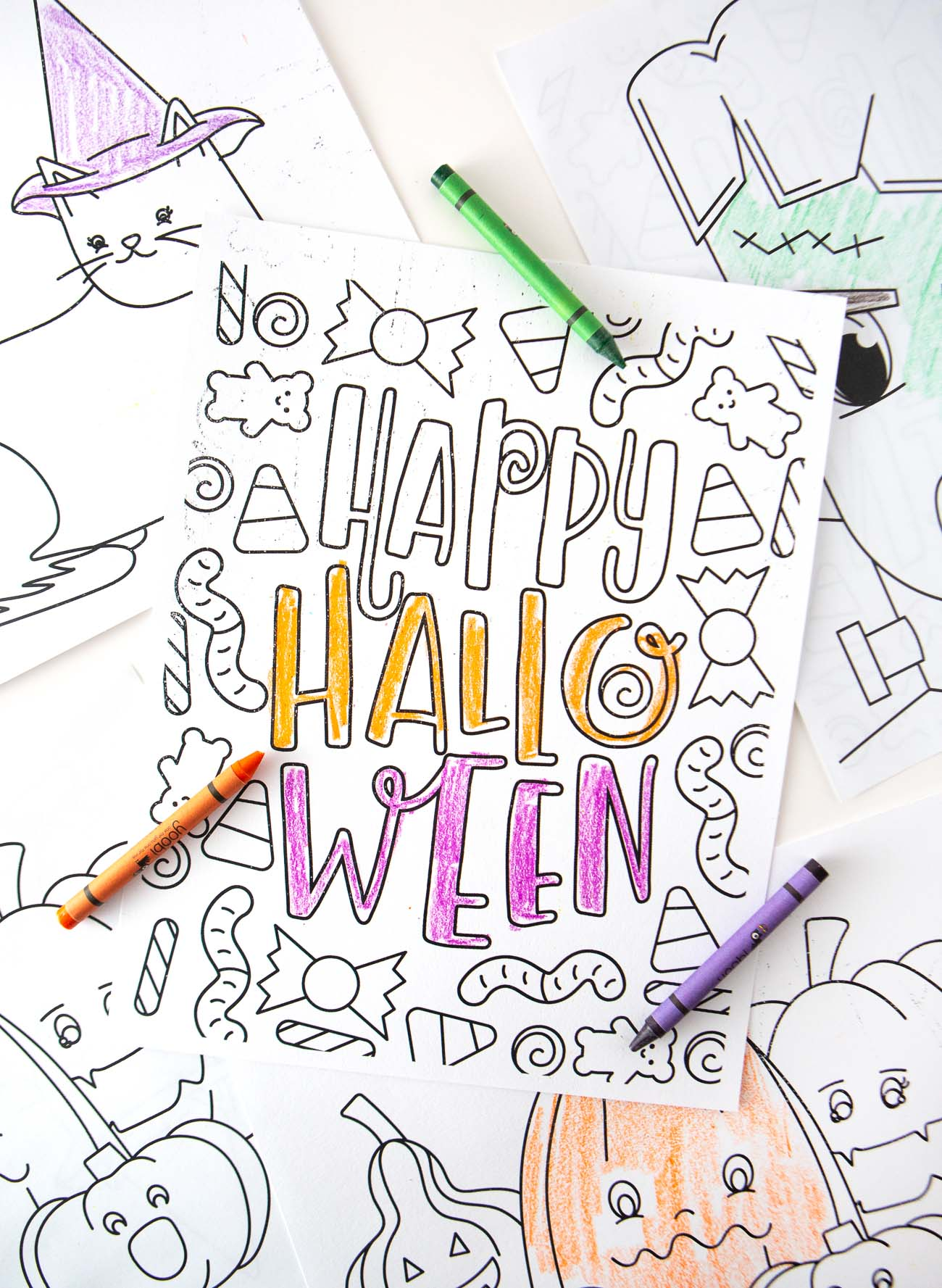 Happy Halloween FREE Halloween Coloring Pages