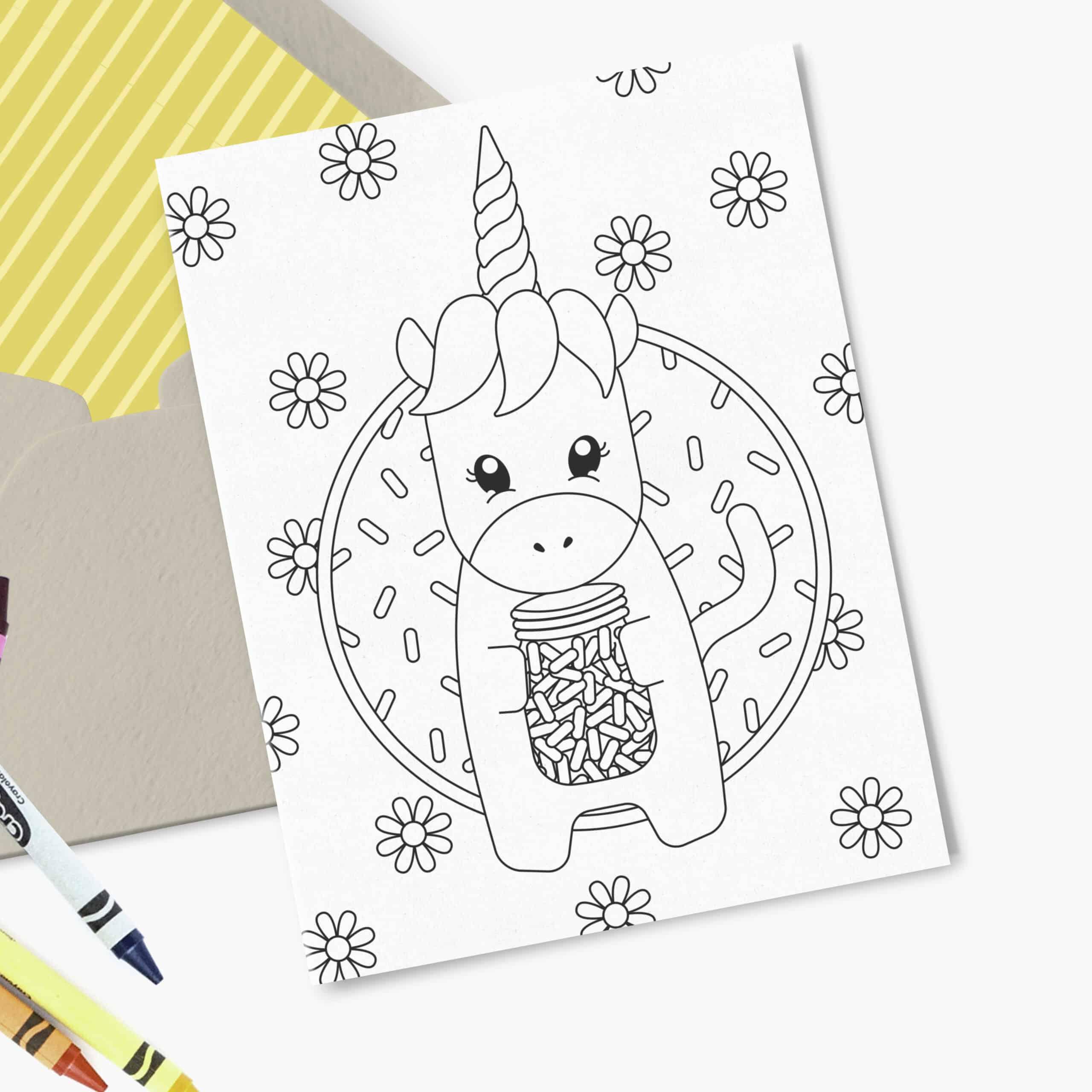 Printable Unicorn Birthday Card Design Eat Repeat