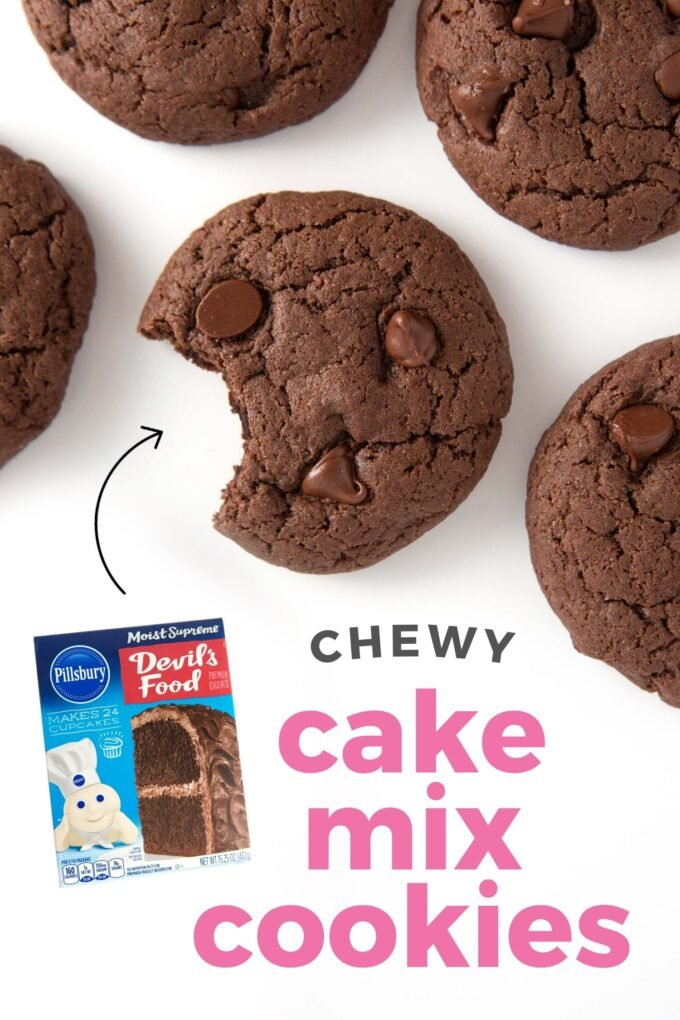 Chocolate cake mix cookies with chocolate chips
