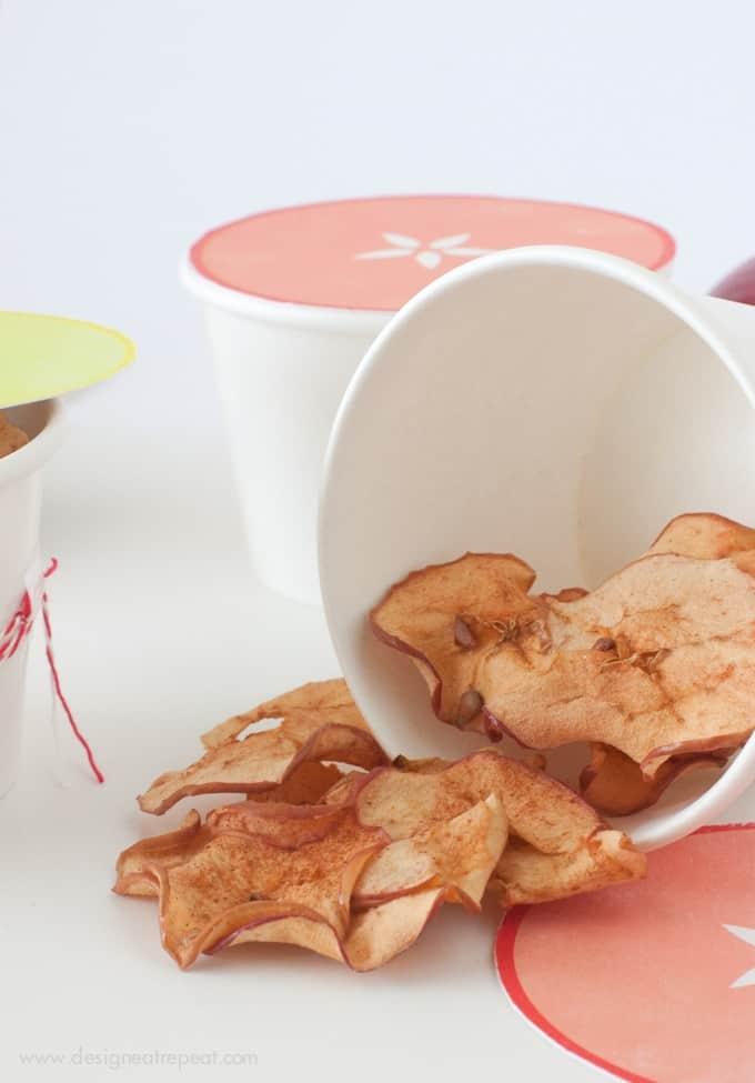Apple Chips in cute apple packaging