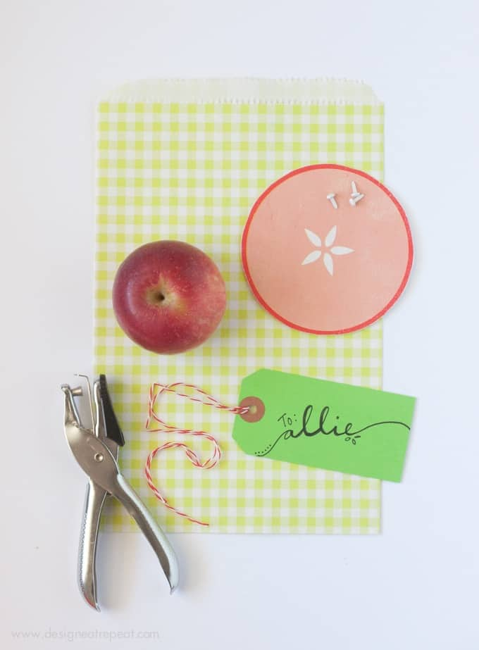 Apple GIft Bag Idea - Perfect for fall!