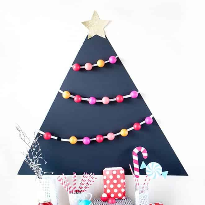 Attach EOS lip balm to a black matteboard for a fun holiday party favor idea! Allow each guest to pick one off the tree to take home! So fun!