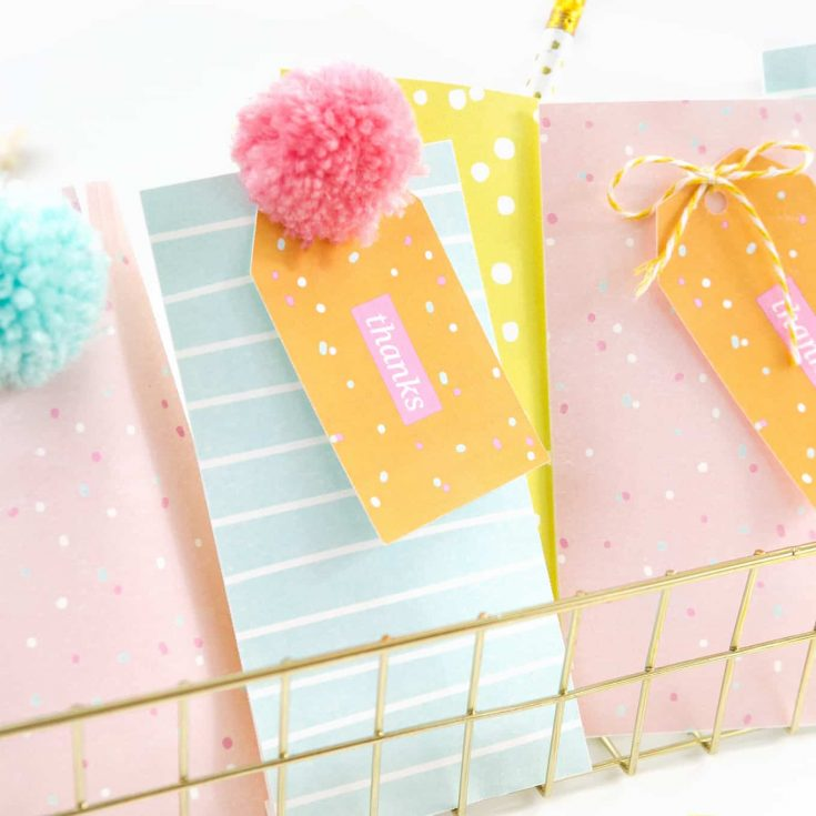 How To Make Confetti Printable Party Favor Bags