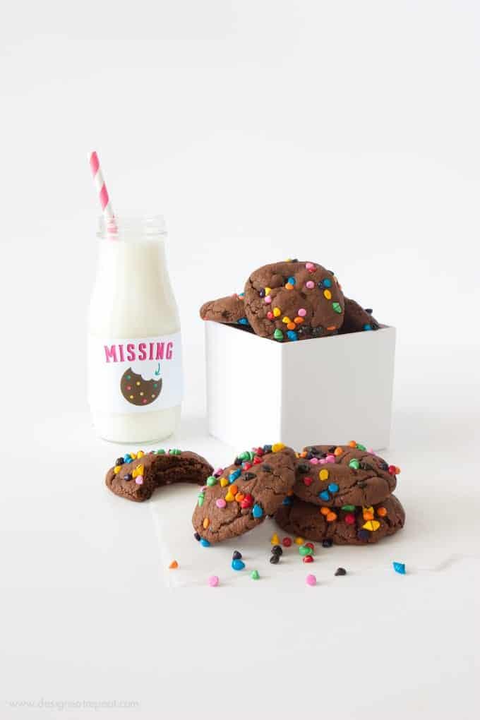 Cosmic Brownie Cookies   by Melissa at Design Eat Repeat