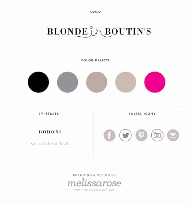Custom Blog Design for Blonde in Boutin's ::Designed by Melissa Rose Design