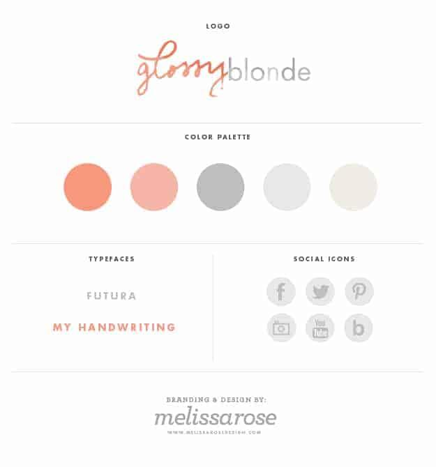 Custom Blog Design for Glossy Blonde | Designed by Melissa Rose Design