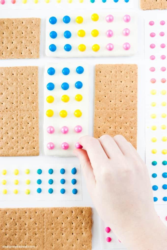 DIY Candy Button Graham Cracker Bars