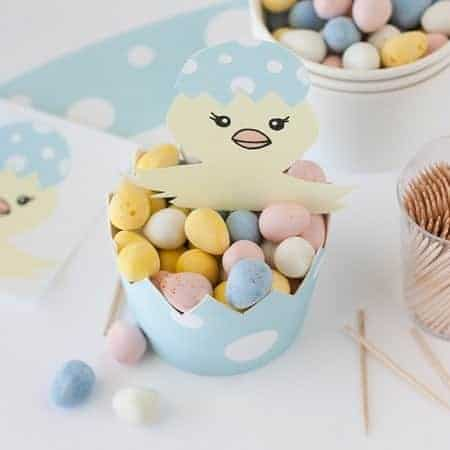DIY Easter Egg Candy Cups | Get the Tutorial & Printable over at Design Eat Repeat Blog