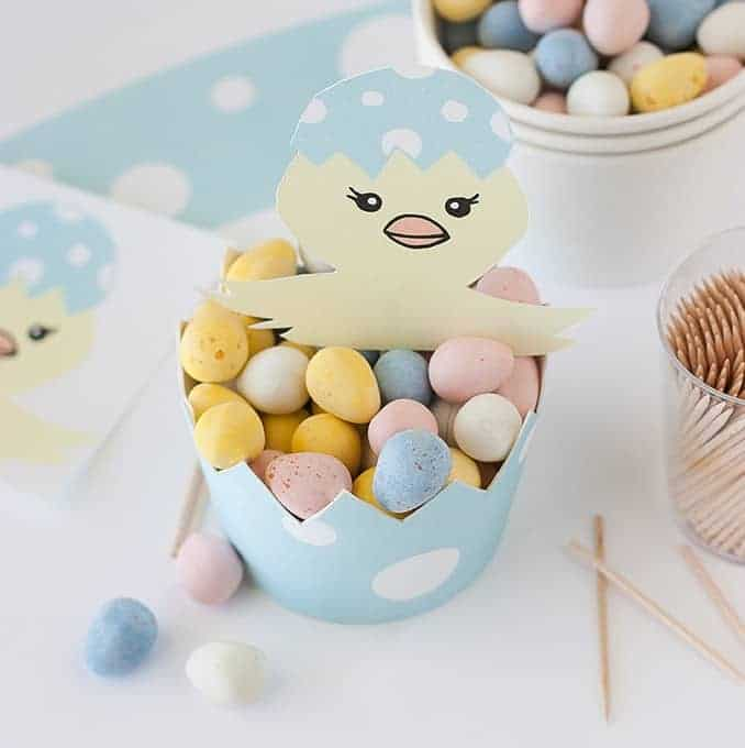 DIY Egg Candy Cup Easter Printables