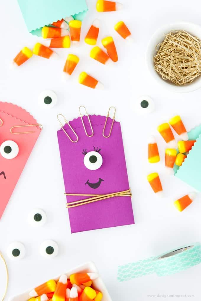 DIY Monster Halloween Treat Bags